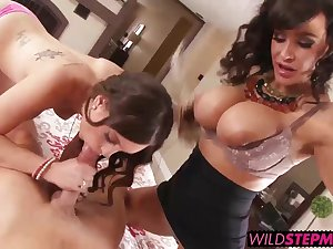 Lisa Ann gave the lucky girl a hands on step mom sex lesson