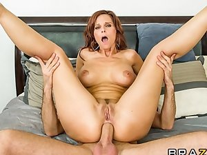 HOT redhead MILF Syren De Mer fucks her son's best friend