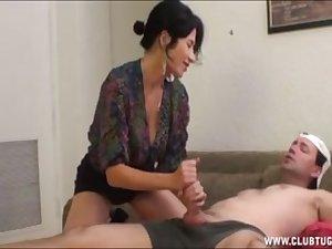 hot mom handjob young boy