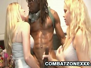 Angela Attison and Britney Young - Busty Blondes And The Big Black..