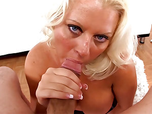 Roxy Doll Cougar MILF Deepthroats Huge Cock Swallow HotCum Load POV..