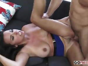 Busty brunette Danica Dillon fucking her stepson