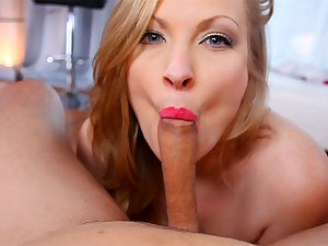 Big Tit MILF Vicky Vixen Swallows CUM in Awesome POV Blowjob!