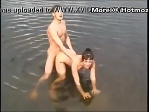 StepMom and son fuck in the lake