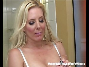 Busty Mature Kara Nox Lusting Over 19yr Old Stepson