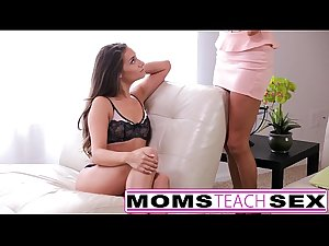 Mom seduces son in hard fast fuck lessons