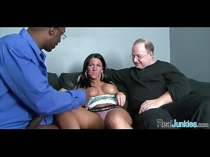 Interracial cuckold with mom 412