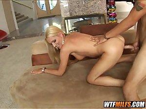 Gorgeous blonde stepmom fucks her son in law 4