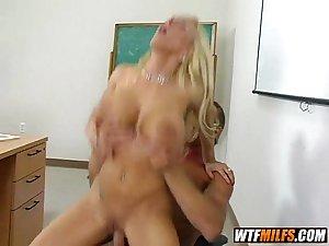 Slutty big tit teacher fuck 4