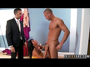 Super hot MILF takes 2 dicks Lezley Zen 91