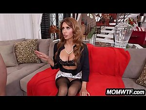 Stepdaughter gets a lesson in fucking her bf and her mom Bella..
