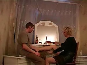 Russian mature mom Beatrice with her boy