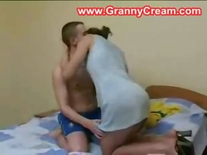 Younger guy wants to fuck his real mature mother