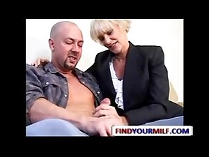 Mature Mrs.Lott seducing young guy